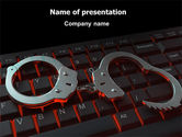Legal: Computer Crimes PowerPoint Template #07286