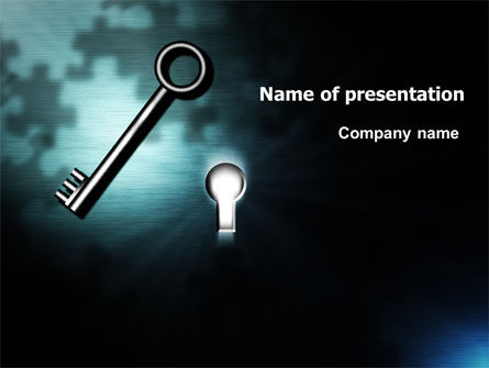 Consulting: Key and Keyhole PowerPoint Template #07287