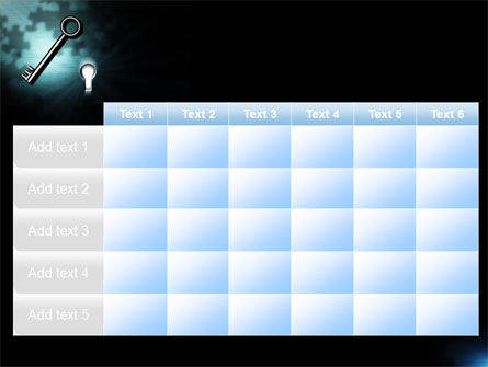Key and Keyhole PowerPoint Template Slide 15