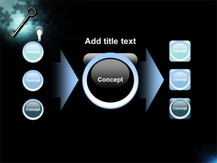 Key and Keyhole PowerPoint Template Slide 17