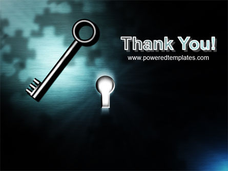Key and Keyhole PowerPoint Template Slide 20