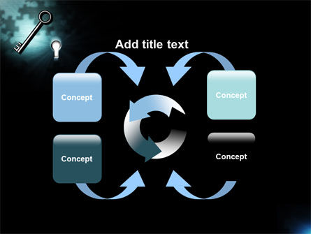 Key and Keyhole PowerPoint Template Slide 6