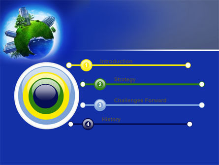 Big City Building PowerPoint Template, Slide 3, 07288, Nature & Environment — PoweredTemplate.com