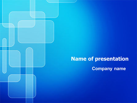 Aqua Blue Theme PowerPoint Template