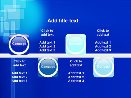 Aqua Blue Theme PowerPoint Template Slide 19