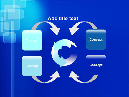 Aqua Blue Theme PowerPoint Template Slide 6