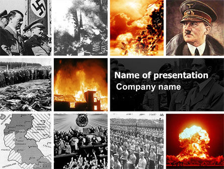 People: Adolf Hitler PowerPoint Template #07294