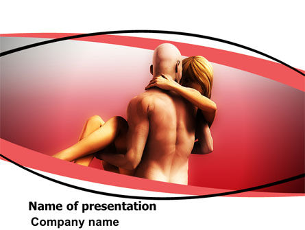 Nude Lovers PowerPoint Template, 07295, Medical — PoweredTemplate.com