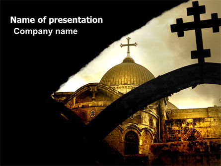 Religious/Spiritual: Byzantine Church PowerPoint Template #07296