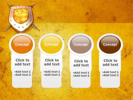 Shield And Swords PowerPoint Template Slide 5