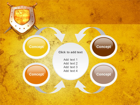 Shield And Swords PowerPoint Template Slide 6