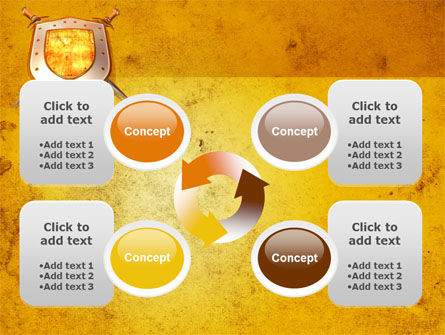 Shield And Swords PowerPoint Template Slide 9