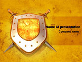 Legal: Shield And Swords PowerPoint Template #07298