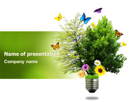 Technology and Science: Alternative Green Energy PowerPoint Template #07299