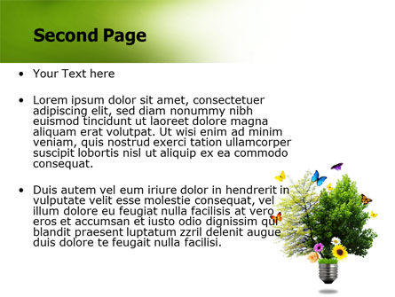 Alternative Green Energy PowerPoint Template, Slide 2, 07299, Technology and Science — PoweredTemplate.com