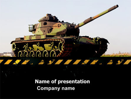 Tank PowerPoint Template, 07301, Military — PoweredTemplate.com