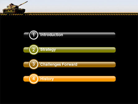 Tank PowerPoint Template, Slide 3, 07301, Military — PoweredTemplate.com