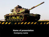Military: Modelo do PowerPoint - tanque #07301