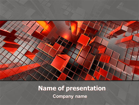 Heat Up Rates PowerPoint Template, 07304, Abstract/Textures — PoweredTemplate.com