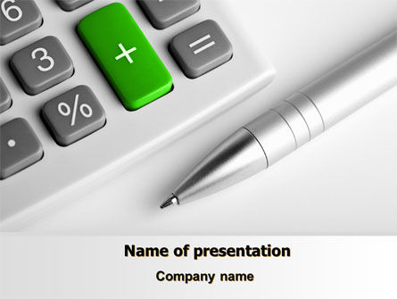 Financial/Accounting: Accountant Tools PowerPoint Template #07305