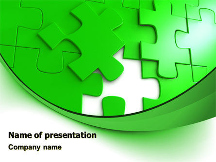 Green Puzzle PowerPoint Template