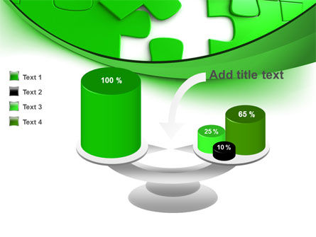 Green Puzzle PowerPoint Template Slide 10