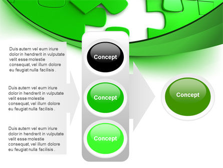 Green Puzzle PowerPoint Template Slide 11