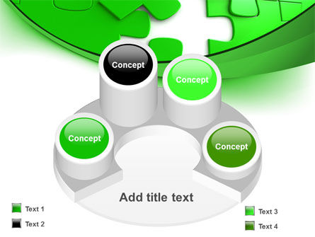 Green Puzzle PowerPoint Template Slide 12