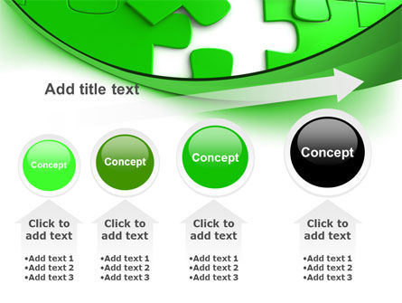 Green Puzzle PowerPoint Template Slide 13