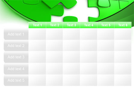 Green Puzzle PowerPoint Template Slide 15