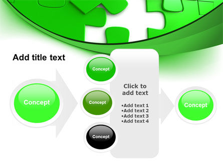 Green Puzzle PowerPoint Template Slide 17