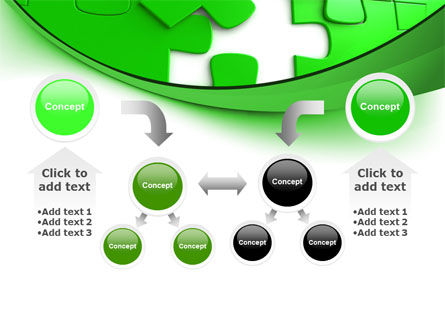 Green Puzzle PowerPoint Template Slide 19