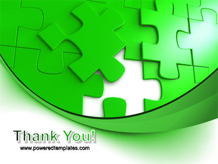 Green Puzzle PowerPoint Template Slide 20