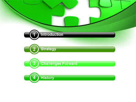 Green Puzzle PowerPoint Template Slide 3
