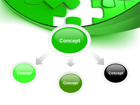 Green Puzzle PowerPoint Template Slide 4