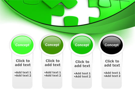 Green Puzzle PowerPoint Template Slide 5