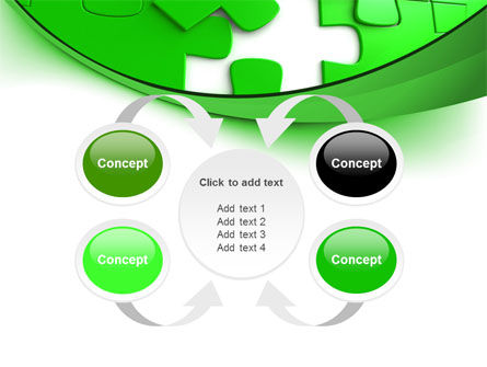 Green Puzzle PowerPoint Template Slide 6