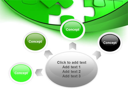 Green Puzzle PowerPoint Template Slide 7