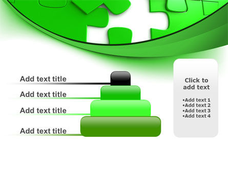 Green Puzzle PowerPoint Template Slide 8