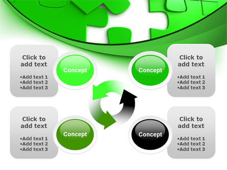 Green Puzzle PowerPoint Template Slide 9