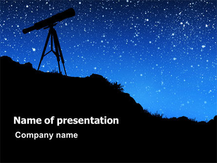 Stars Observation PowerPoint Template, 07307, Education & Training — PoweredTemplate.com