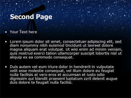 Stars Observation PowerPoint Template Slide 2