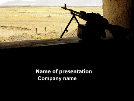 Military: Machine Gun PowerPoint Template #07308