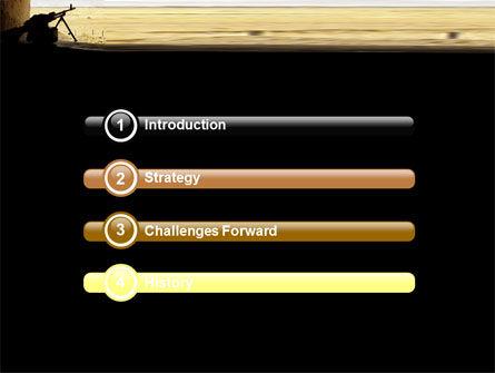 Machine Gun PowerPoint Template, Slide 3, 07308, Military — PoweredTemplate.com