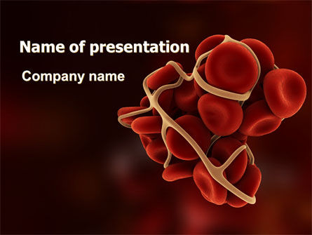 Medical: Blood Thrombus PowerPoint Template #07309