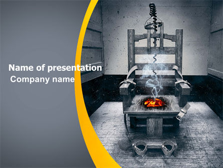 Electric Chair PowerPoint Template, 07311, Legal — PoweredTemplate.com