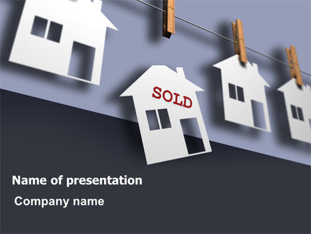 House Sold PowerPoint Template, 07312, Real Estate — PoweredTemplate.com