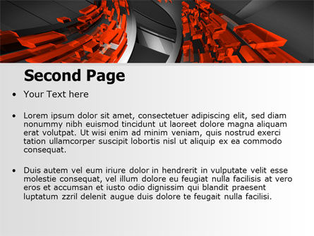 Abstract Flow PowerPoint Template, Slide 2, 07314, Abstract/Textures — PoweredTemplate.com