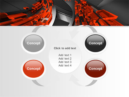 Abstract Flow PowerPoint Template Slide 6