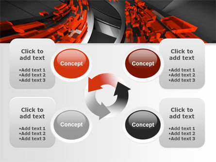 Abstract Flow PowerPoint Template Slide 9